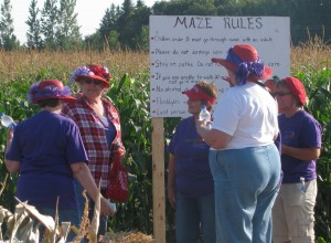 Well the Red Hat Ladies sure enjoyed the maze!
